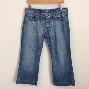 7 For All Mankind Dojo Capri Wide leg Jeans Sz 31